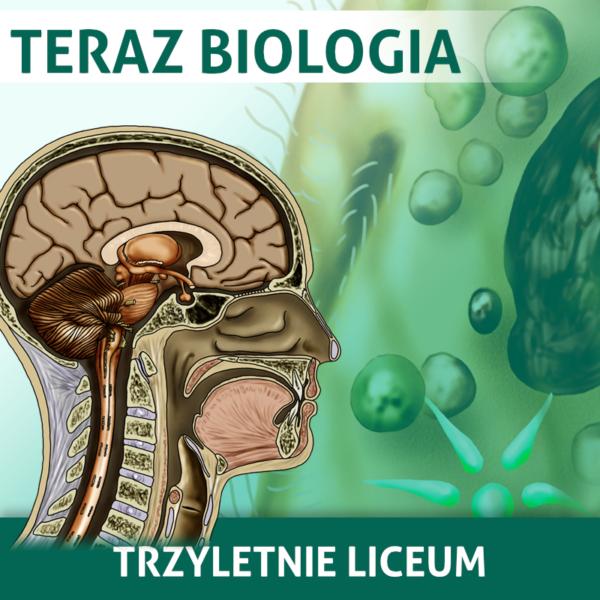 Okładka pakietu Teraz Biologia zawierającego wszystkie kursy do biologii na poziomie rozszerzonym do 3-letenig liceum