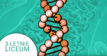 Okładka kursu z Biologii do 3-letniego liceum Genetyka